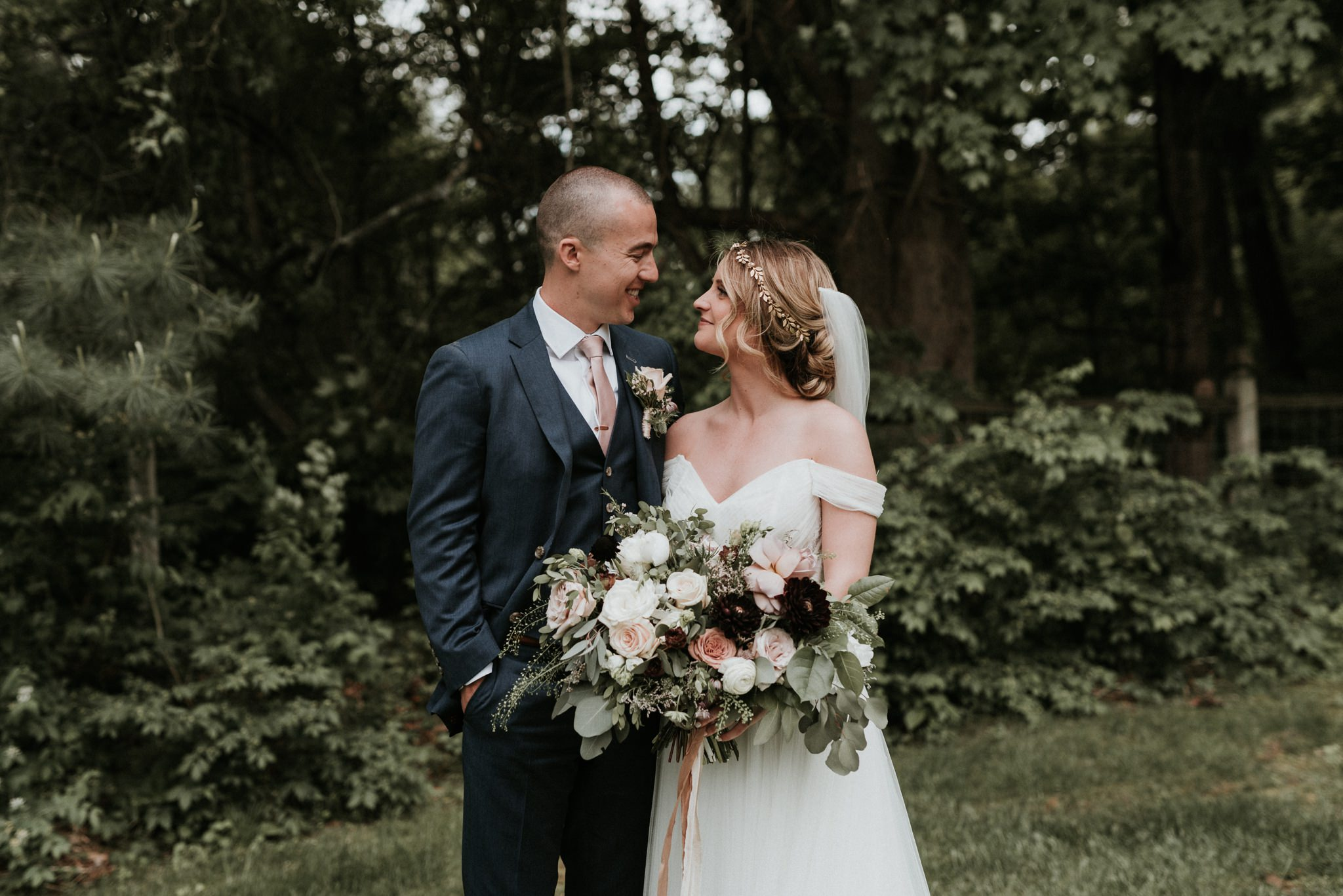 Real Enchanted Garden Wedding Kelly Steve: Kelly + Steve // Bedford Village Inn Wedding